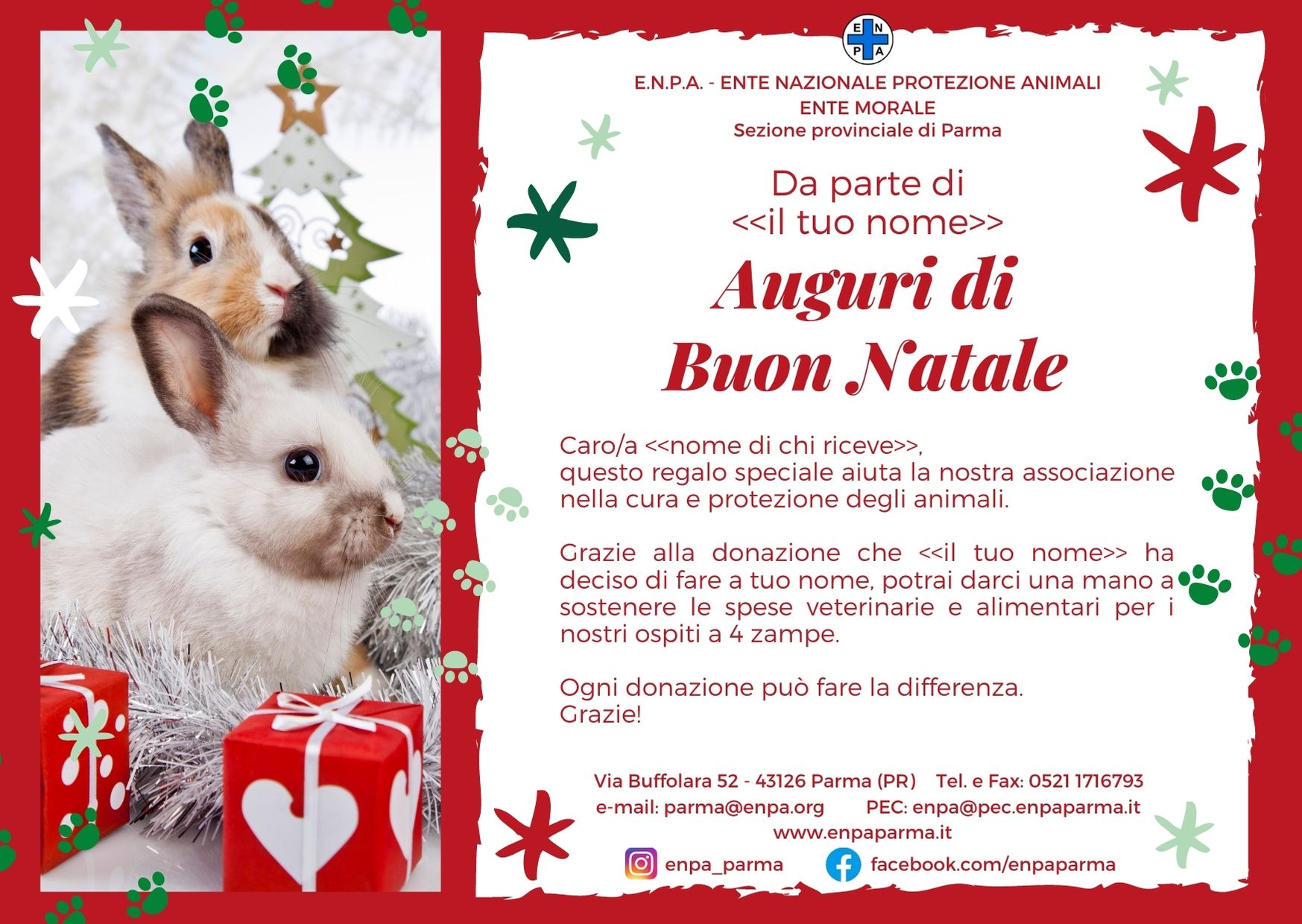 Natale Con ENPA (coniglio - 5€)