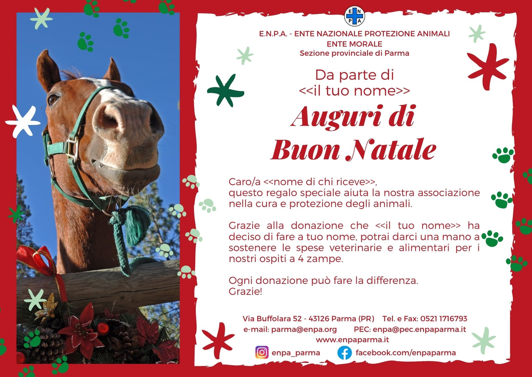 Natale Con ENPA (cavallo - 5€)
