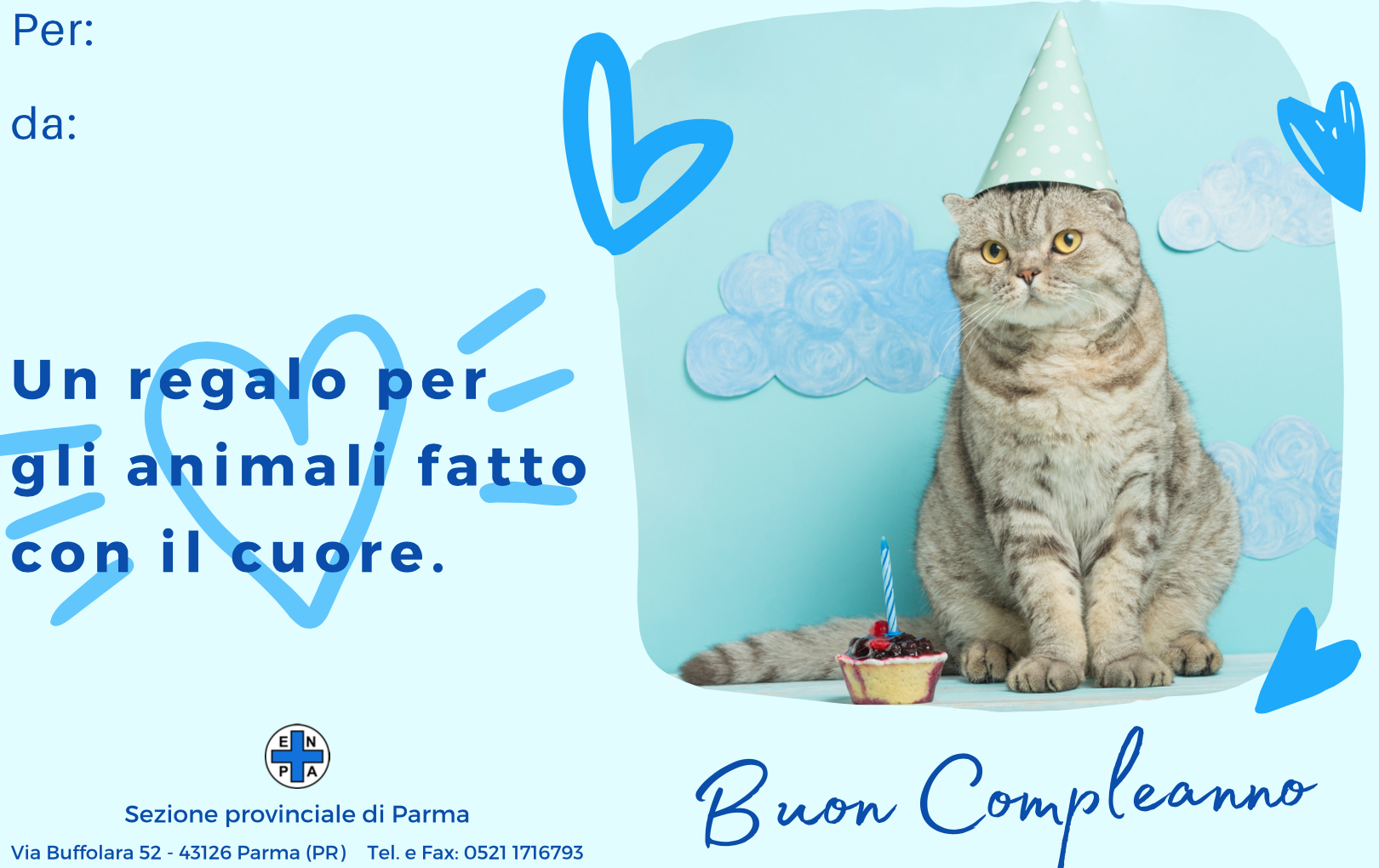 Bigliettini Compleanno ENPA (gatto - 5€)